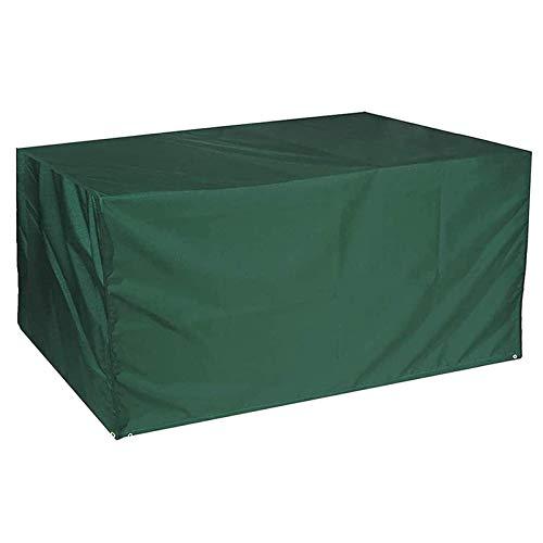 QIAOH Funda De Muebles De Jardín 255x130x80cm, Funda Mesa Jardin Impermeables Anti-UV Funda Protección, para Cubierta De Muebles Interior Y Exterior
