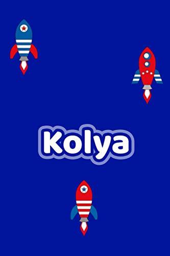 Kolya: Personalisiertes Vornamen Notizbuch / Tagebuch - 120 Seiten - Punkteraster - Format 6x9 ca. DIN A5