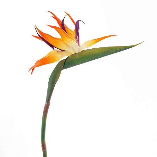 artplants.de Ave del paraíso Artificial, Naranja-Amatista, 95cm - Flor Artificial - Planta sintética