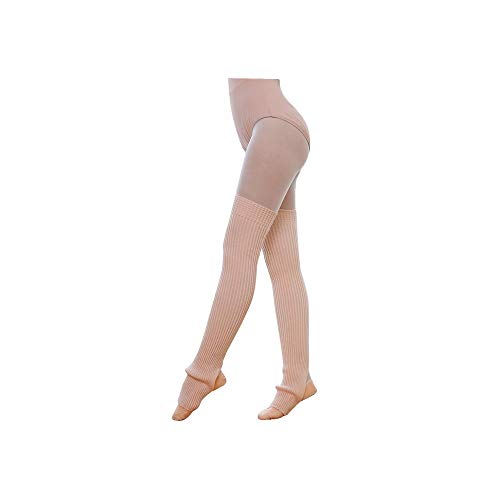 ODJOY-FAN 1 Paar Frau Schenkel Gestrickt Bein Wärmer Yoga Socken Stiefel Abdeckung Damen Halterlose Strümpfe Slouch Socken Wolle Warm Socke 75cm(Rosa,1 Paar)