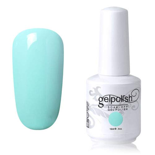 Vernis à ongles gel de couleur 15 ml - Vernis à fond de teint - Nail Art - DIY (1594-vert menthe clair)