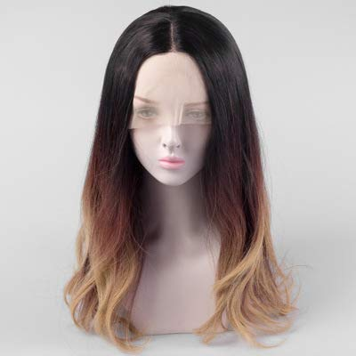WYN123 Wigs for women human hair Wig cover mid-point female long curly hair flame retardant high temperature silk chemical fiber front lace gradient wig