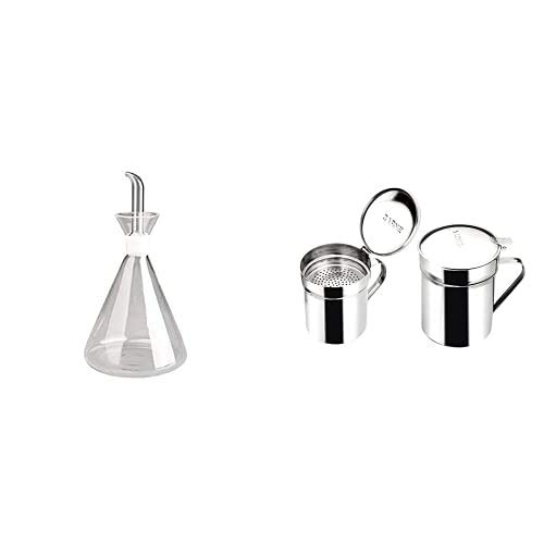 IBILI 755005 - Aceitera Probeta Cristal 500 Ml. + 700001 - Grasera INOX Promo-Carne 0,50 Lt, 1 Unidad