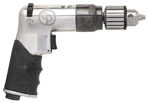 Chicago Pneumatic CP789R-26 Super Duty Reversible Keyed Air Drill with Pistol Grip, 3/8-Inch Chuck, 2,600 RPM