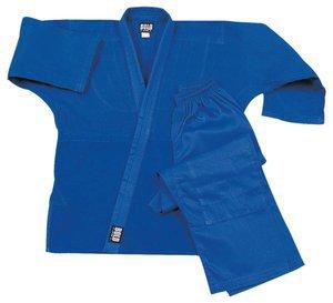 Super Middleweight 8.5 oz Traditional Karate Uniform - Blue Size 6