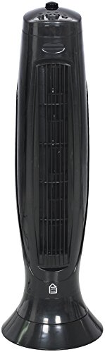 El Fuego 7112 Turmventilator 45 W mit Timer, Schwenkfunktion, 3-stufiger Leistungseinstellung, 230 V, schwarz
