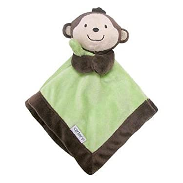 Carter's Brown/green Monkey Security Blanket With Plush