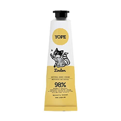 Yope natürliche Handcreme | Linde | Shea Butter | Vegan Handcreme | 98% aus natürlichen Zutaten | 50ml