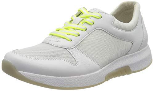 Gabor Shoes Damen Rollingsoft Sneaker, Weiß (Weiss(Se.W/Neogelb 51), 40 EU