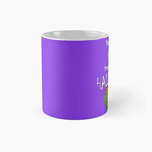 Taza clsica con texto en ingls 'Your Brain On Halloween | El mejor regalo divertidas tazas de caf de 325 ml