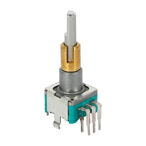 SovelyBoFan Codificador de Doble Eje EC11EBB24C03 con Interruptor 30 NúMero de Posicionamiento 15 Manejar de Punto de Pulso 25 Mm