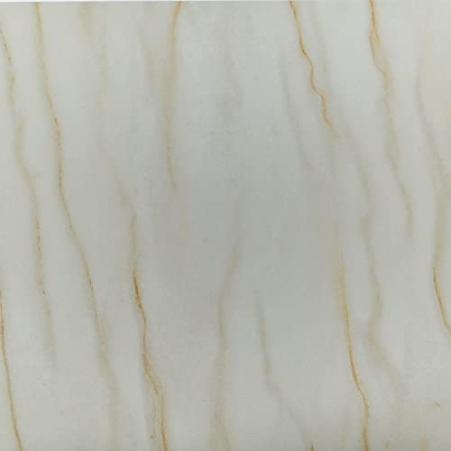 auxua Peel and Stick Floor Tile White Marble Vinyl Flooring 12'x12' Durable Waterproof Non-Slip Granite Vinyl Tiles Self Adhesive Removable for Kitchen Living Room Bedroom Bathroom 24 Pcs