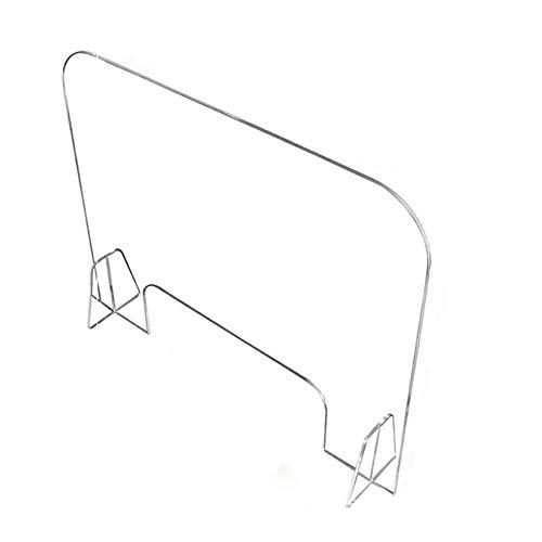 Hustenschutz Niesschutz Spuckschutz Mit Durchreiche Thekenaufsatz Tischaufsatz Transparent Acrylglas Laserdesign Acryl Schutzschild Niesschutz Spuckschutz Thekenaufsteller(40*40cm/15.74*15.74in)