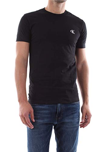 Calvin Klein CK Essential Slim Tee Maglietta, Nero (Black), M Uomo