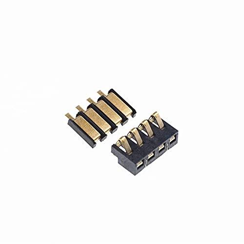 IGOSAIT 5 unids compresión de resorte Contacto 2.5 mm Pitch 4 Pin Female Conector Masculino Montaje de superficie Conectores de batería de reflujo Solder PCB (Color : 2 Male 2Female)