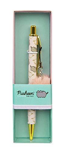 Undercover PUSH0489 Kugelschreiber mit Motivdruck Pusheen, Großraummine Pom Anhänger, in Geschenkverpackung, ca. 16,1 x 5 x 2,8 cm