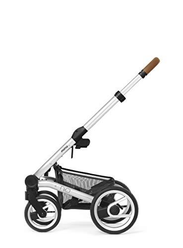 Mutsy Nio Gestell/Frame für Kinderwagen/Buggy Cognac grip standard silber