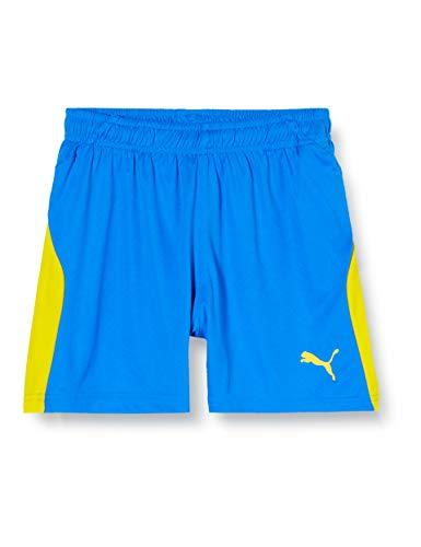 PUMA Kinder LIGA Shorts, Electric Blue Lemonade/Yellow, 128