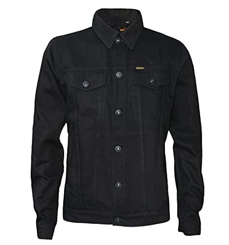 ROCK-IT Apparel Giacca di Jeans a Manica Lunga da Uomo Giacca di Jeans Premium Confortevole da Uomo Taglie S-5XL Colore Nero 5XL