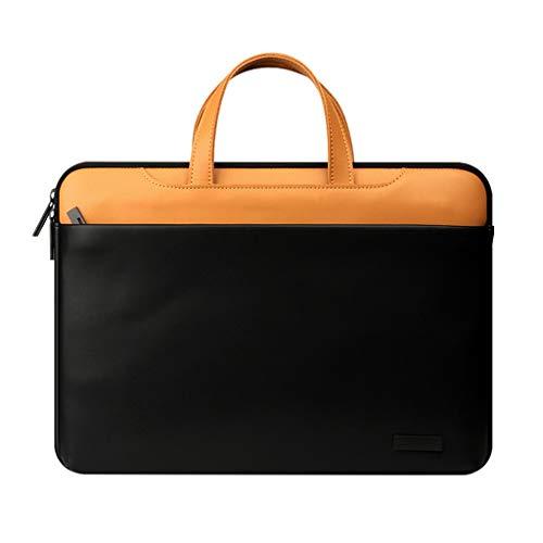 hongbanlemp Portátil Bolso Portátil de Cuero de la Cartera del Bolso de 12 Pulgadas 13,3 Pulgadas 15,4 Pulgadas Hombres y Mujeres de Negocios del maletín for Laptop Portátil Maletín (Size : 12 Inch)