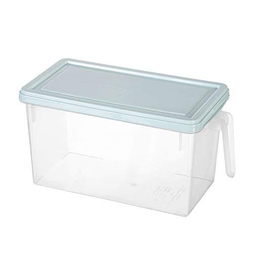 Phoetya - Caja de almacenamiento para nevera, cajón rectangular para congelador, caja de almacenamiento para alimentos, cocina, nevera, congelador, azul claro