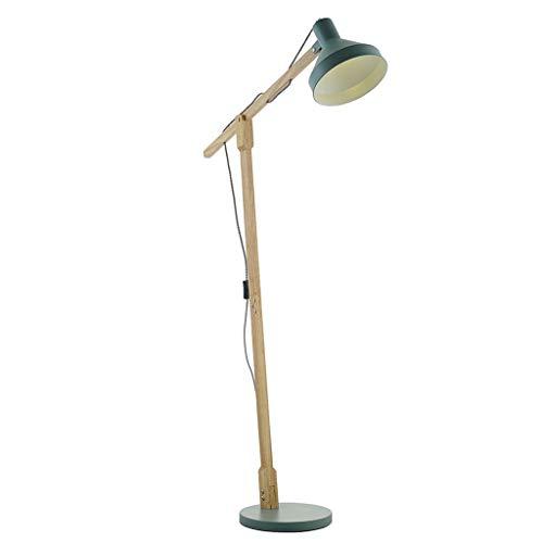 * Vloerlamp Moderne staande lamp van massief hout IKEA verticale LED woonkamer eenvoudige leeslamp Macaron lamp