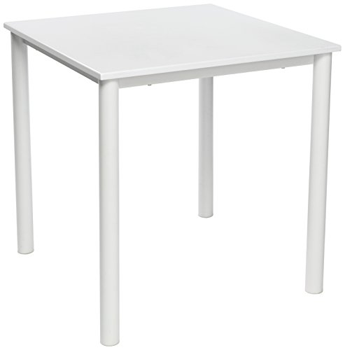 13Casa Blanco d7 Tavolo. Dim. 71 * 71 * 75h cm. MDF + Metallo. Bianco.