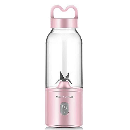 Mini draagbare USB oplaadbare Juicer Blender met 4 Blades 400ml Personal Blender voor reizen, thuis, en Outdoor, Perfect voor verse groenten, milkshake en Babyvoeding,Pink