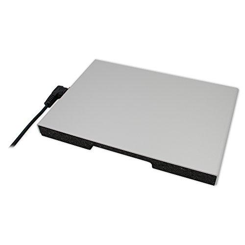 thermo Gastro-Wärmeplatte (Gastronorm 1/1), 325mm x 470mm (505mm inkl. Anschlußkabel) x 34mm, 230V, 230W, 75 °C Thermostatschalter, ca. 1,5m Anschlußkabel abnehmbar, mit Euro-Zentralstecker