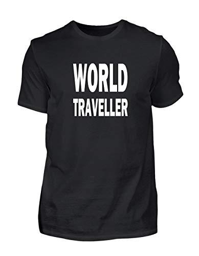 Cooles World Traveller Reisen Weltreise T-Shirt Geschenk (Medium)