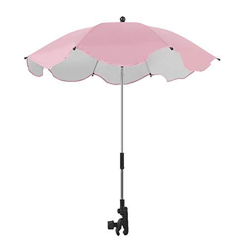 Kinderwagen Kinderwagen Auto Sonnenschirm Regenschirm mit Clip Kinderwagen Zubehör Kinder Kinder Kinderwagen Schattenhalter # G7-Pink, Polen