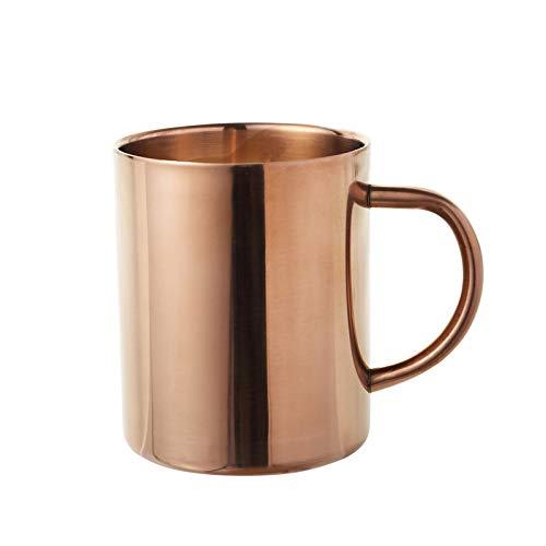 SUNHAO Roestvrij Staal koffiekopje Dubbele Titanium koffie kopje koperen plated mok water plated kaars beker roestvrij staal B300ml