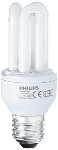 Philips Ampoule Fluocompacte Stick Culot E27 11 Watts consommés Equivalence incandescence : 50W