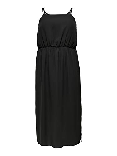 ONLY Carmakoma CARFESTIONO SL Maxi Dress,Black,46
