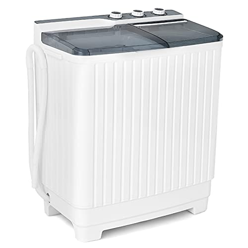 Giantex Portable Washing Machine Semi-Automatic, Twin...