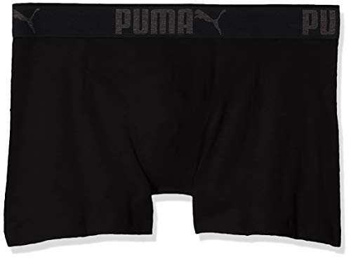 PUMA Lifestyle Sueded Cotton Boxer 3p Box Pantaloncini, Nero (Black 200), L (Pacco da 3) Uomo