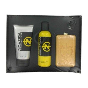 Nautica Competition By Nautica Gift Set -- 4.2 Oz Eau De Toilette Spray + 5 Oz After Shave Balm + 10...