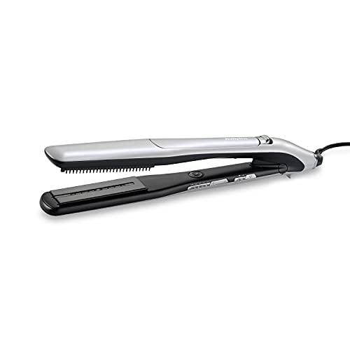 BaByliss Plancha Steam Lustre ST595E - Plancha de pelo profesional con Acondicionamiento por Vapor, Plancha de Vapor Iónica, 5 ajustes de 170°C a 210°C, Placas cerámicas anchas 36mm