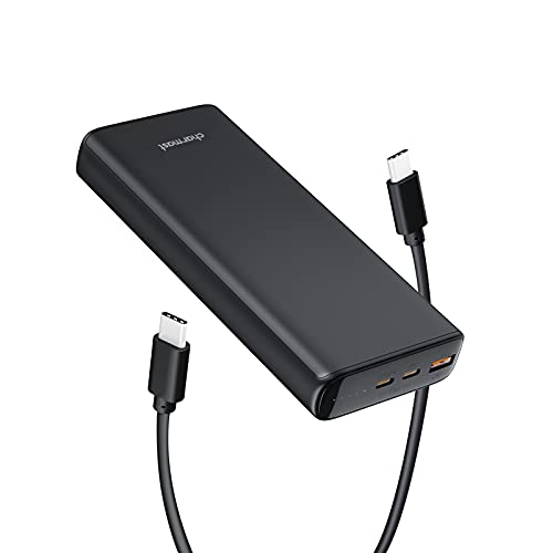 Portable Laptop Charger, Laptop Power Bank, Charmast 65W 23800mAh USB C PD External Battery Pack Powerbank Emergency Backup Power Supply for MacBook Pro Air Dell XPS iPad Pro iPhone