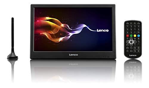 Lenco DVBT2 Fernseher TFT-1028 25,5 cm (10,1 Zoll) HD LED-TV mit DVB-T2, Antenne, 12V Adapter, Netzteil, HDMI