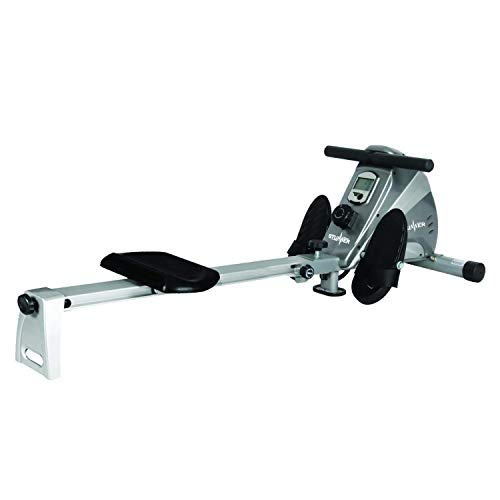 Stunner Fitness SRX-550 Magnetic Rowing Machine with 10 Resistance Levels & LCD Display for Full Body Cardio Workout at Home