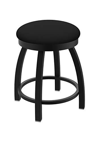 "Holland Bar Stool Co. Misha Swivel Vanity Stool, 18"" Seat Height, Black Vinyl"