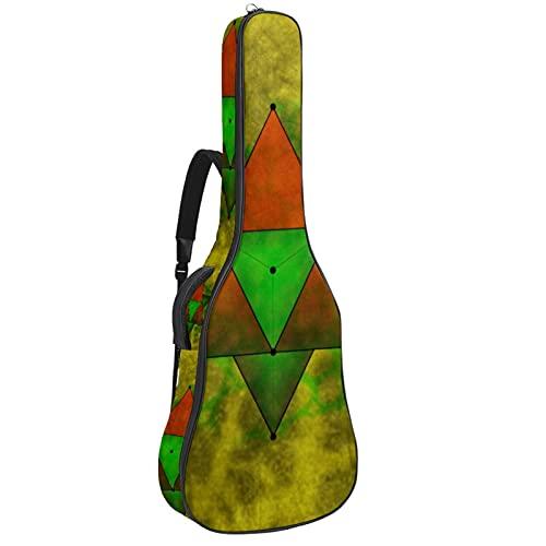 Paquete de guitarra acústica para principiantes, tamaño completo, con tapa de abeto, bolsa de guitarra acústica con corte geometría sagrada de 108,9 x 42,8 x 11,9 cm