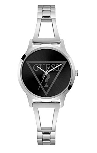 GUESS Women's Year-Round Quartz Watch with Stainless Steel Strap, Silver, 10 (Model: W1145L2)