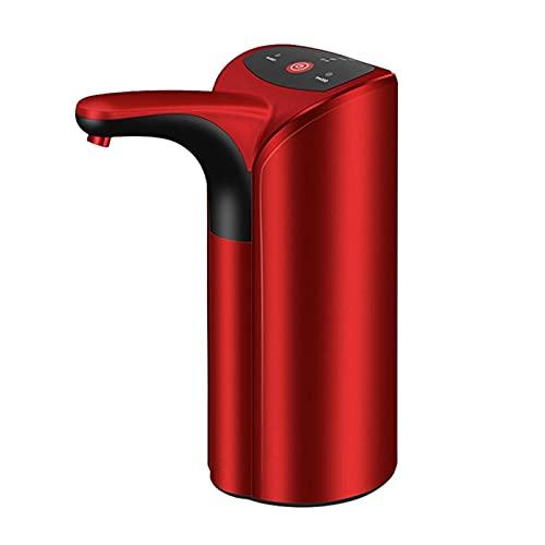 PrittUHU Dispensador de Agua eléctrica Automático USB Botella de Agua Bomba para el hogar Galón Botella de Bebida Interruptor de Agua Inteligente Bomba de Agua (Color : Red)