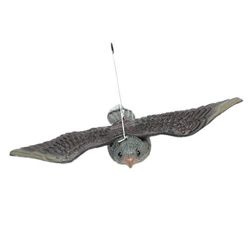 Sharplace Oiseau Pigeon Leurre Lutte Antiparasitaire Jardin Effaroucheur épouvantail - 34.5x52x9cm