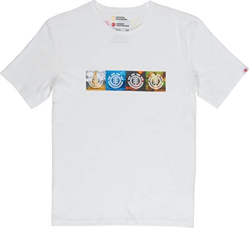 Element Herren T-Shirt Horizontal Seasons Ss (Off White), Größe:M