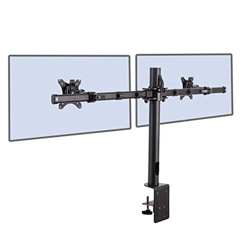 """Fleximounts D1DP Monitorhalter Tischhalterung Standfuß mit 2 Armen für 2 Monitore 17""""-36"""" LCD LED TV Bildschirme Flachbildschirm, Belastbarkeit:11 kg/pro Monitor"""