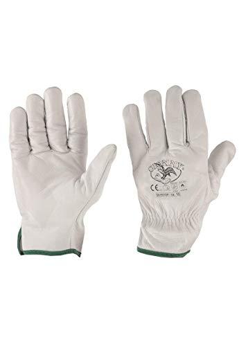 Payper 50/55TOP Gants pour risques mécaniques de travail de sécurité unisexe fleur bovin bordé doux robustes manipulations génériques - Blanc - 8
