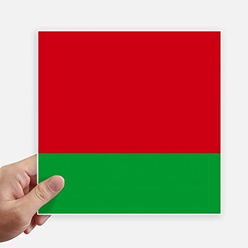 DIYthinker Drapeau National Belarus Asie Country Square Autocollants 20CM Mur Valise pour Ordinateur Portable Motobike Decal 4Pcs 20Cm X 20Cm Multicolor